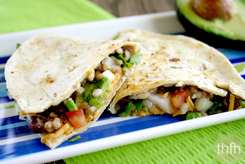 13. Black Bean and Cilantro Quesadillas