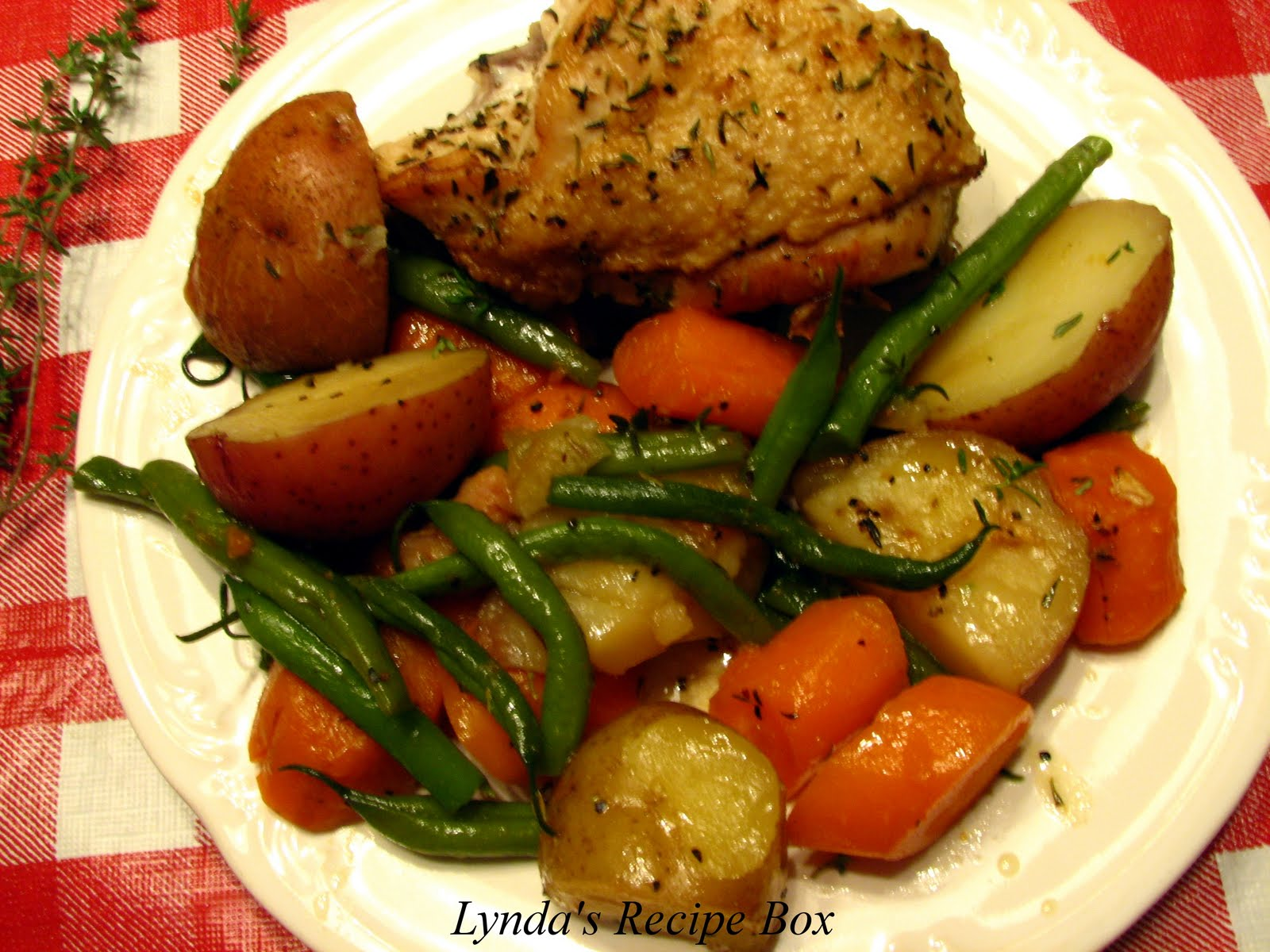 14. Braised Chicken and Vegetable Skillet Dinner