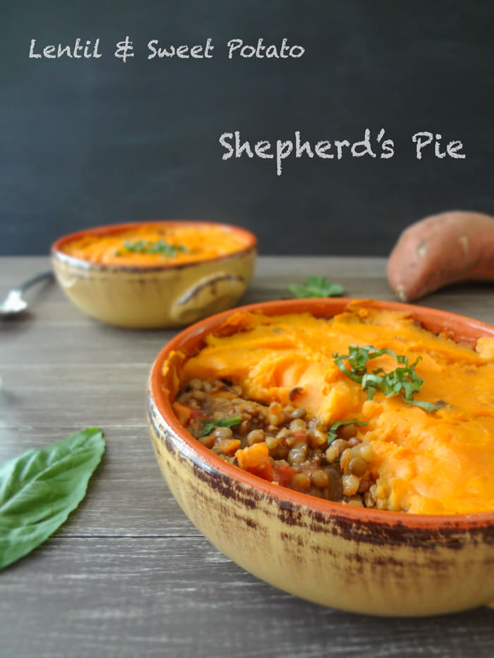 14. Lentil & Sweet Potatoe Shepherd's Pie