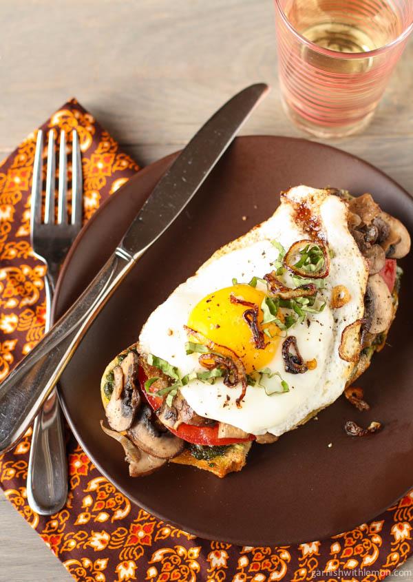 15. Fried Egg and Mushroom Sandwich