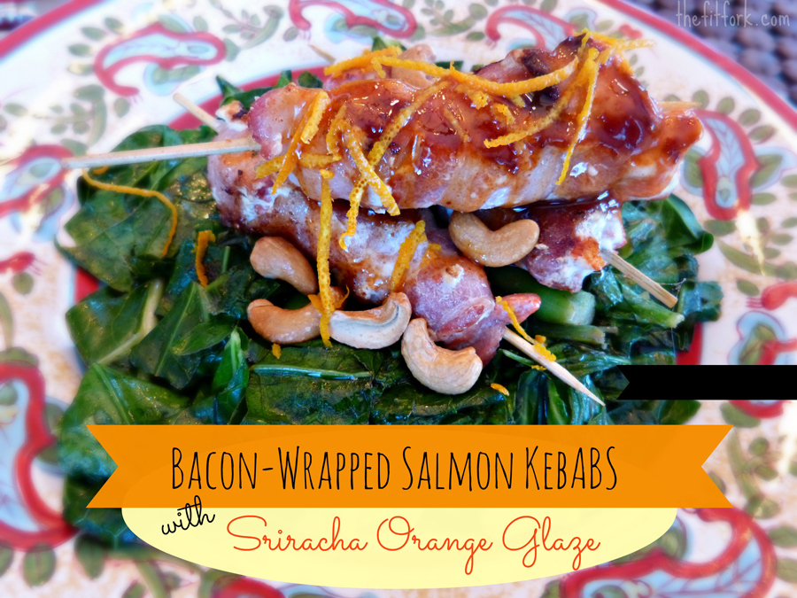 16. Bacon Wrapped Salmon Kebabs