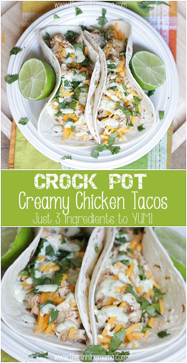 16. Creamy Taco Chicken