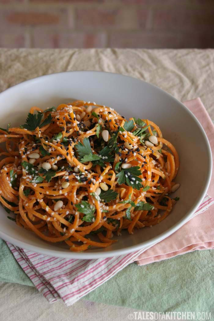 18. Carrot Pasta with a Creamy Zesty Garlic Sauce