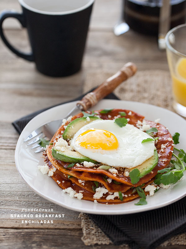 19. Stacked Breakfast Enchiladas