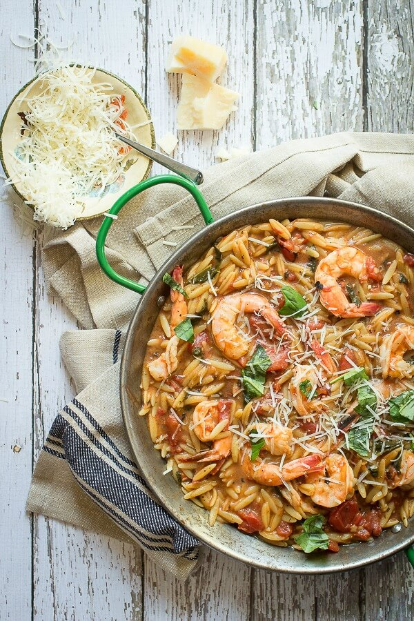 21. Easy One-Pot Shrimp Orzo