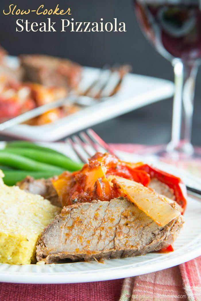 21. Super Simple Slow Cooker Steak Pizzaiola