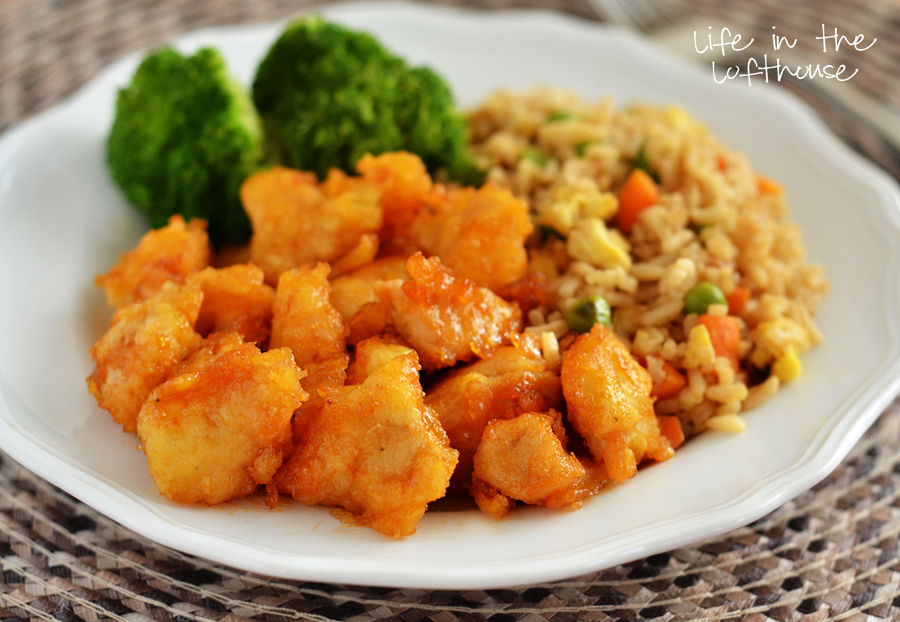 23. Baked Sweet and Sour Chicken with Fried Rice
