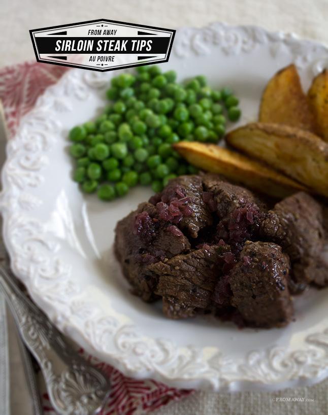 27. Sirloin Steak Tips Au Poivre