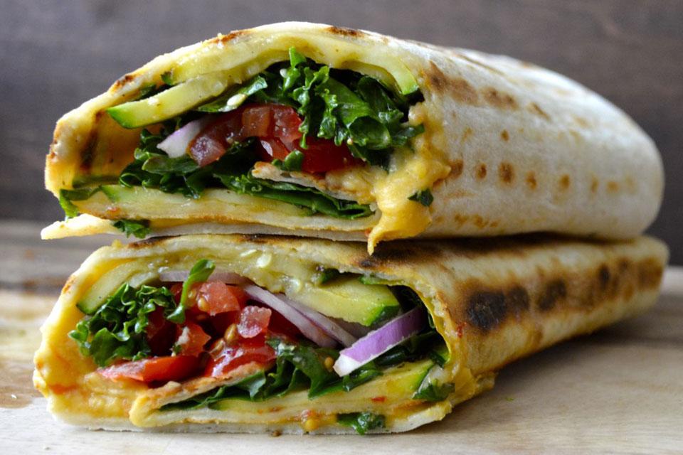 3. Grilled Zucchini Hummus Wrap
