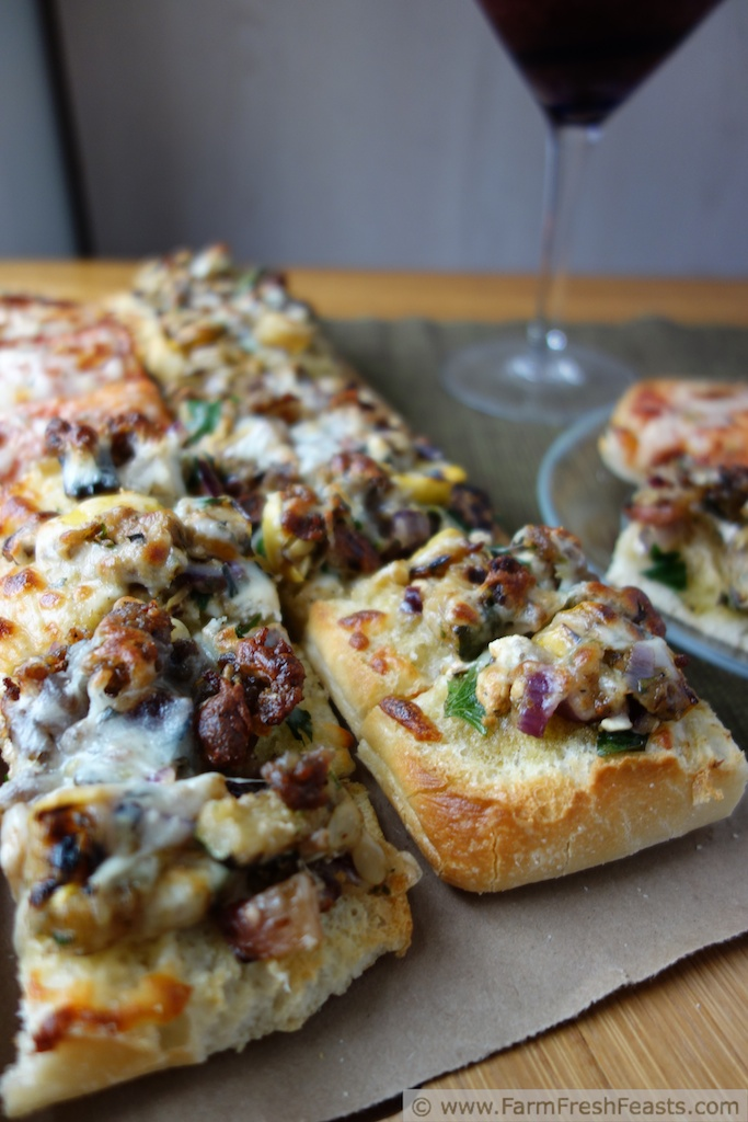 5. Grilled Veggie Ciabatta Pizza