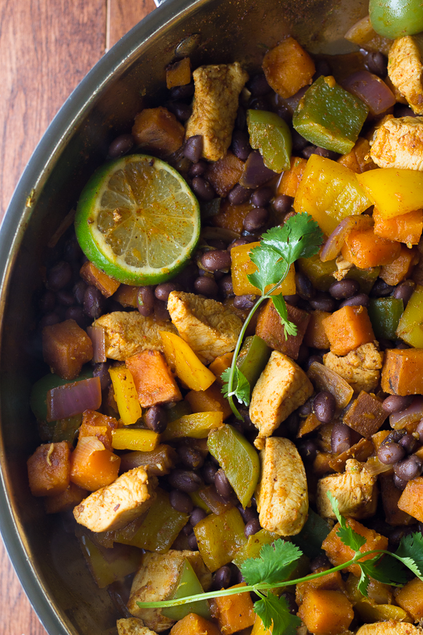 7. Chili Lime Chicken and Sweet Potatoes