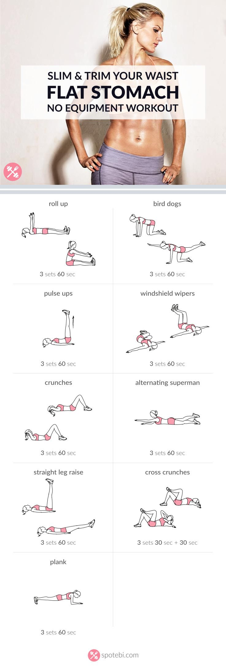 Slim Trim Your Waist Flat Stomach No Equipment Workout 8b1a13b63f8ae8944d61411f5a3c53d8