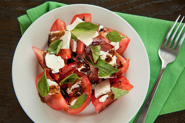17. Sliced Tomatoes With Feta and Basil