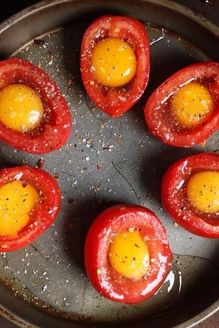 28. Baked Egg and Tomato Cups