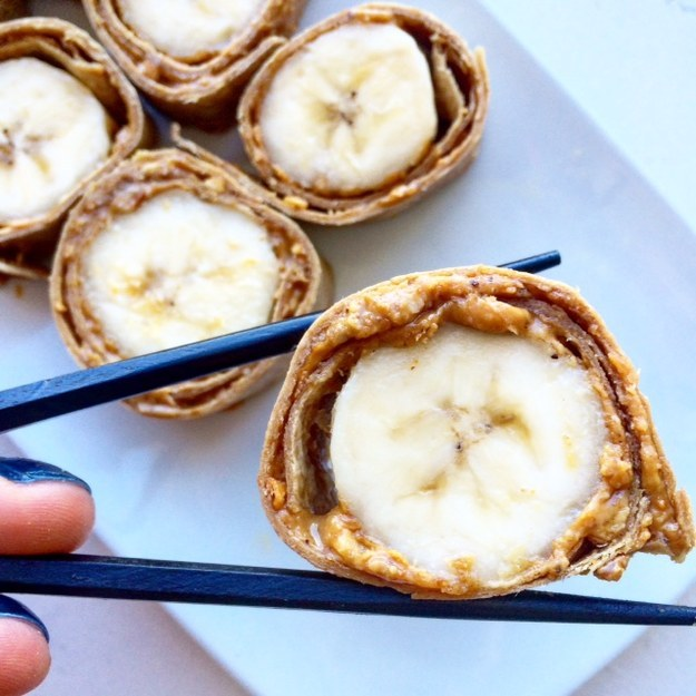 "33. Peanut Butter and Banana ""Sushi"""
