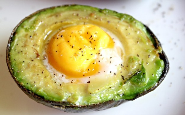 35. Baked Egg in Avocado