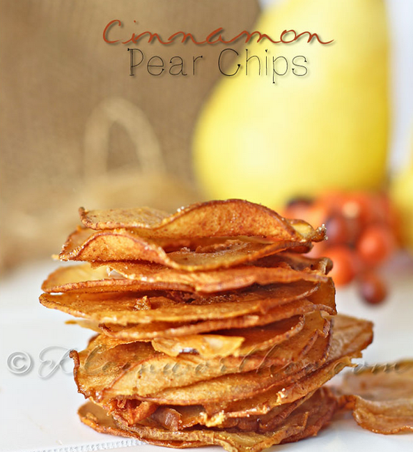 Cinnamon-Pear Chips from KleinWorthCo