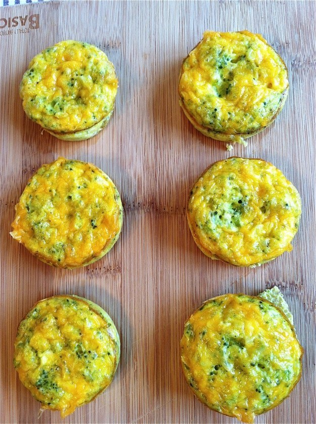 41. Cheddar-Broccoli Egg Muffins
