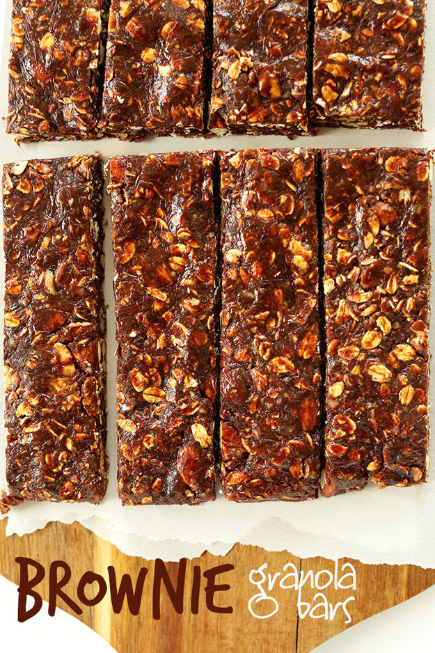54. Healthy Brownie Granola Bars