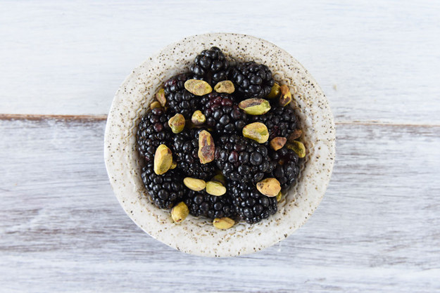 7. Blackberries and Pistachios