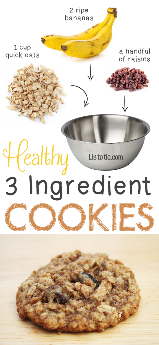 2-healthy-3-ingredient-cookies-so-easy-you-could-also-add-walnuts-coconut-shreds-etc-5-ridiculously-healthy-three-ingredient-treats