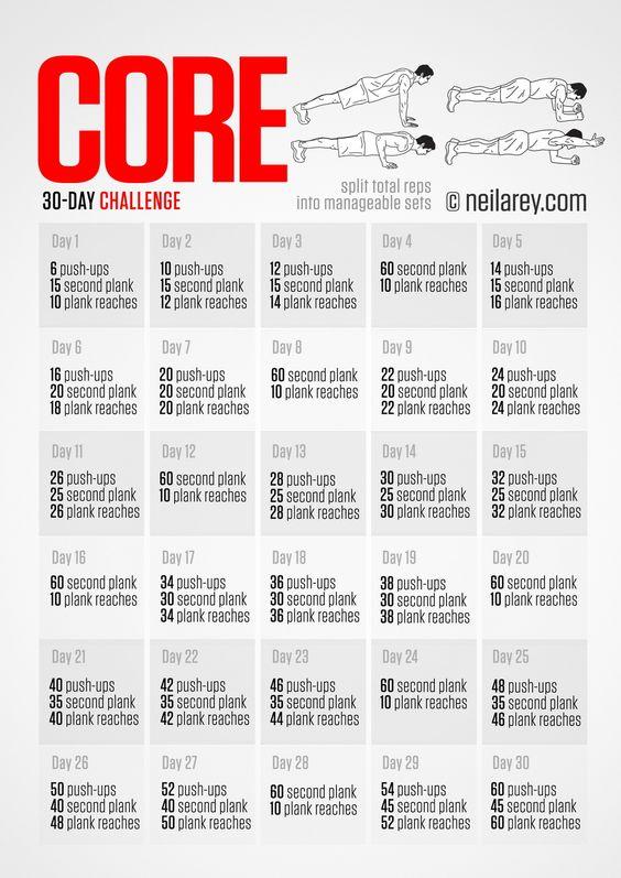 30 days abs diet challenge