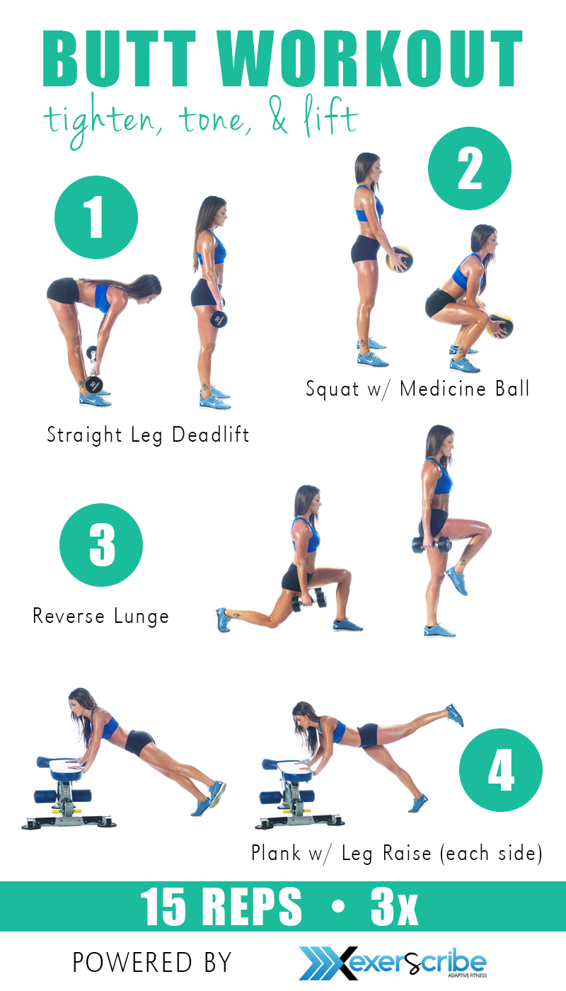 Workouts to build a round booty and toned legs