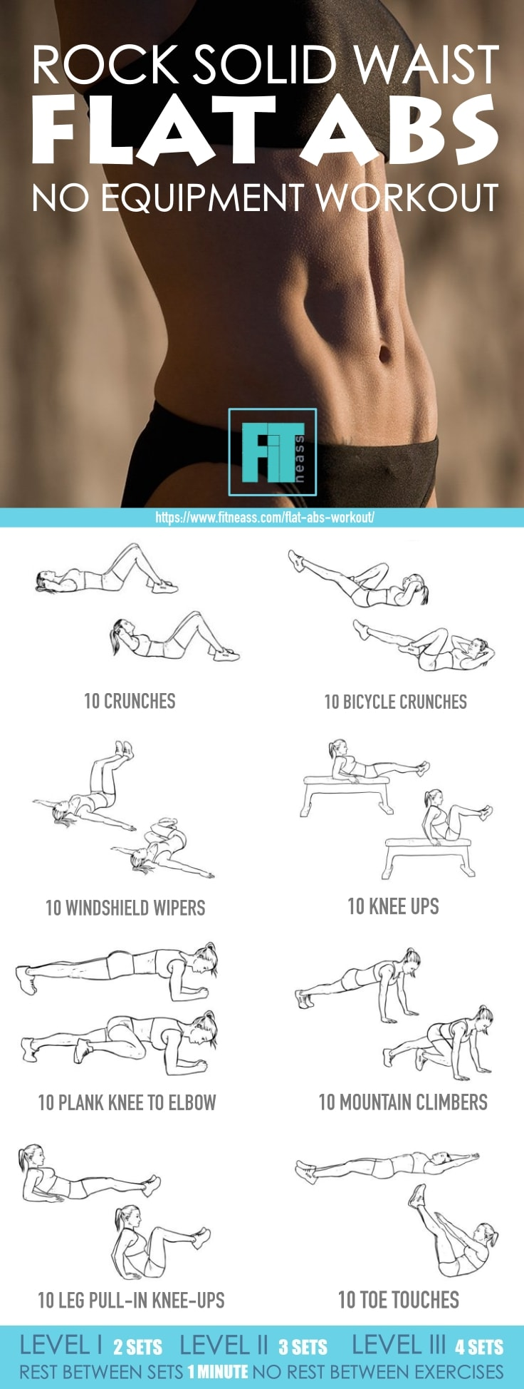 Rock Solid Waist Flat Abs No Equipment Workout