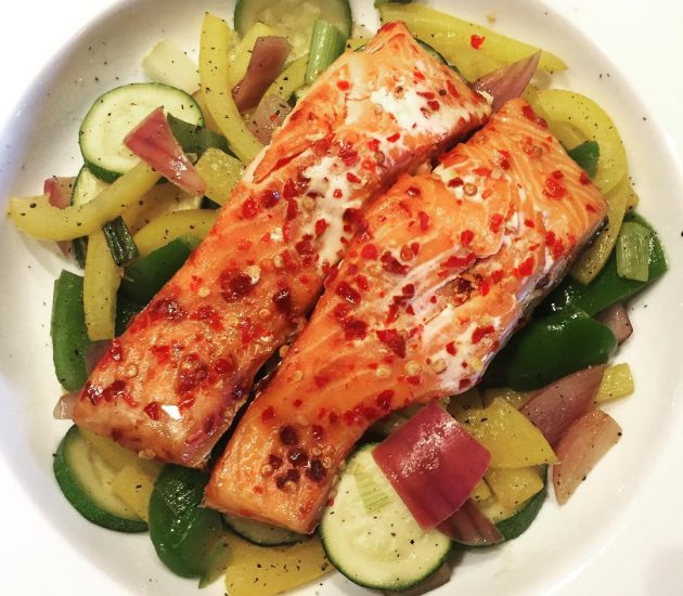 chilli-salmon-with-vegetables