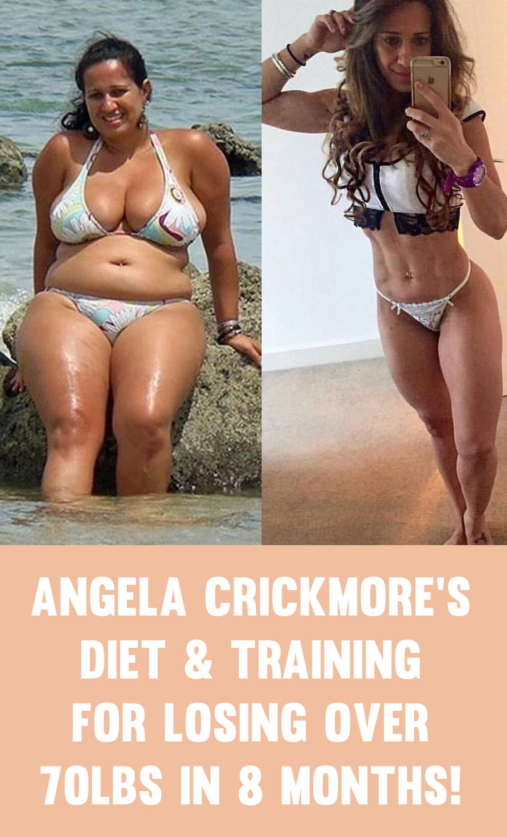 Angela Crickmore's Diet & Training Routine For Losing 70lbs In 8 Months!