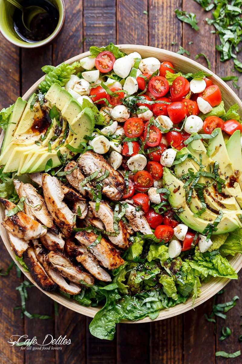 27 low carb high protein recipes that makes fat burning easy chicken avocado caprese salad forumfinder Choice Image