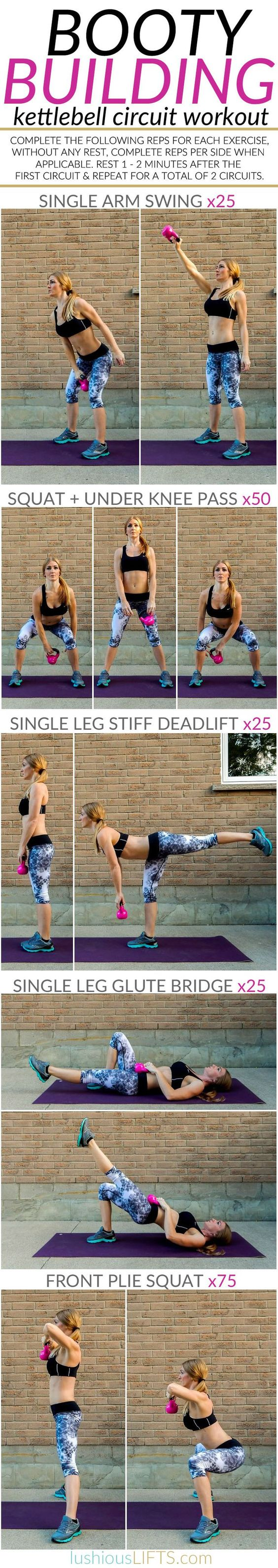 31 Killer Kettle Bell Workouts That Will Burn Body Fat Like Crazy Hour Circuit Tabata Hiit Pinterest Booty Building Workout