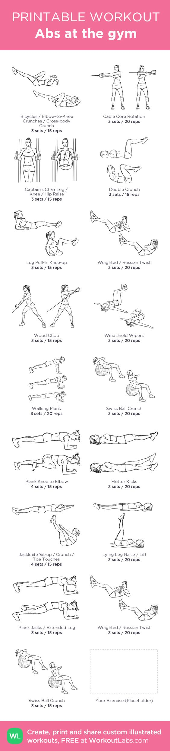Revered image pertaining to printable ab workout