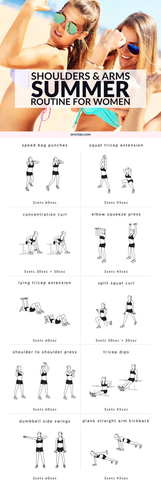 23 Fat Burning Bikini Arm Workouts That Will Shape Your Arms Circuit Style Workout Sculpted