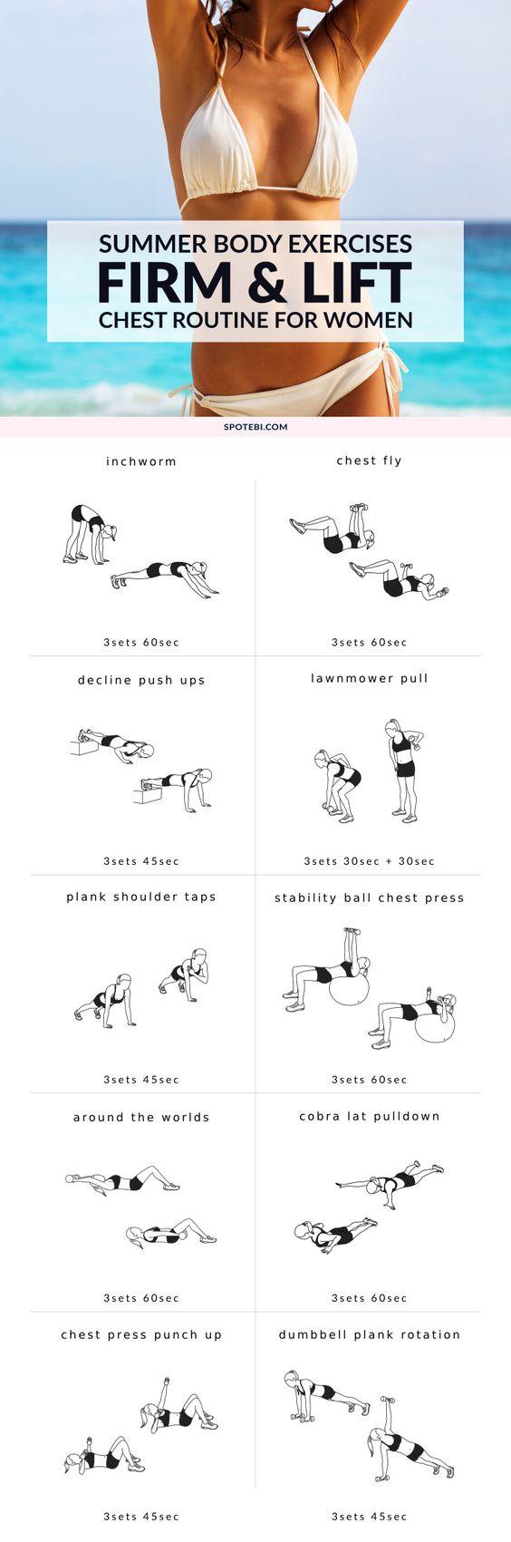 Boob Lift Exercises