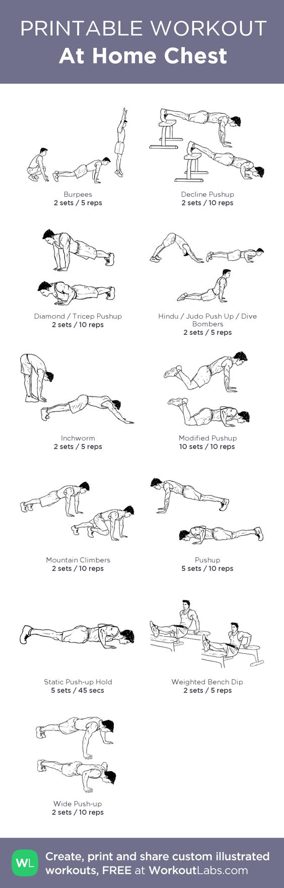 At Home Chest Workout