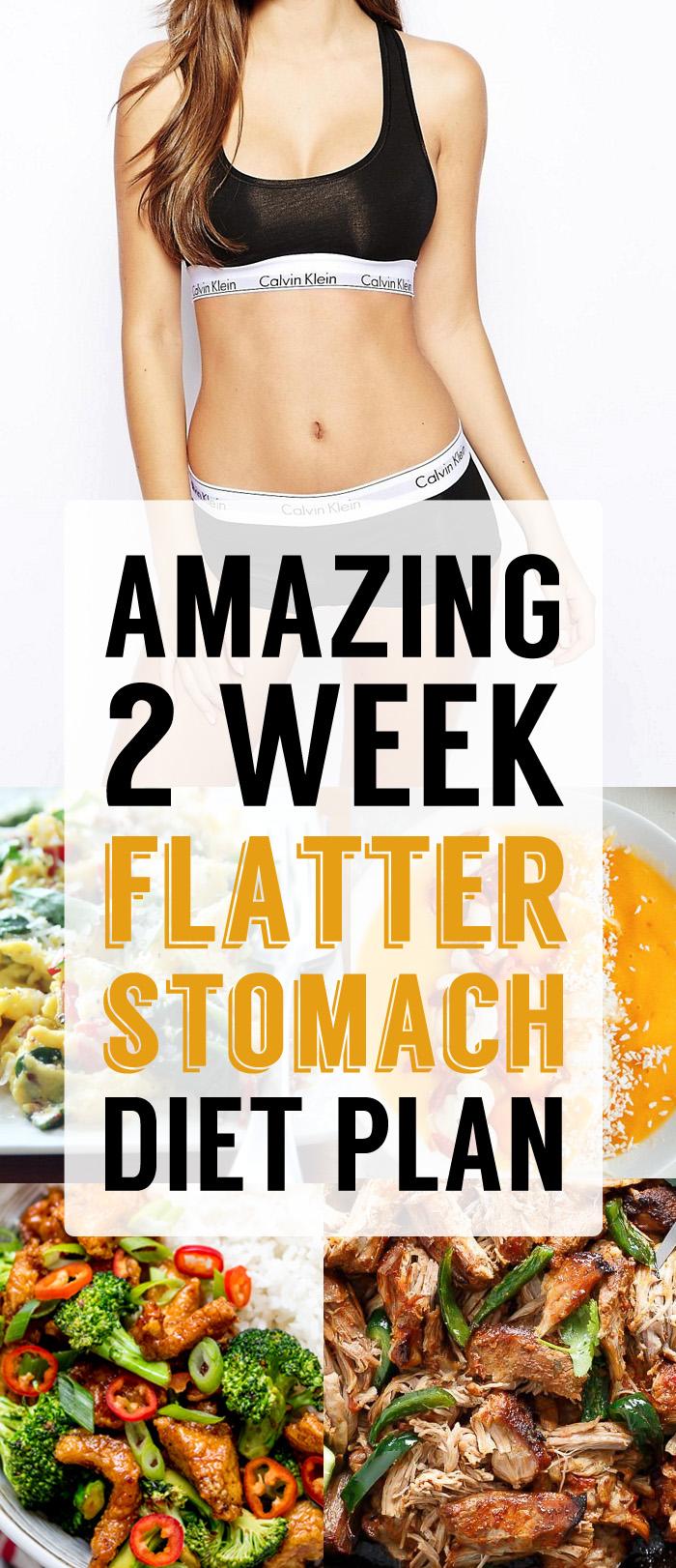 Amazing 2 Week Flatter Stomach Diet Plan Breakfast Lunch Dinner