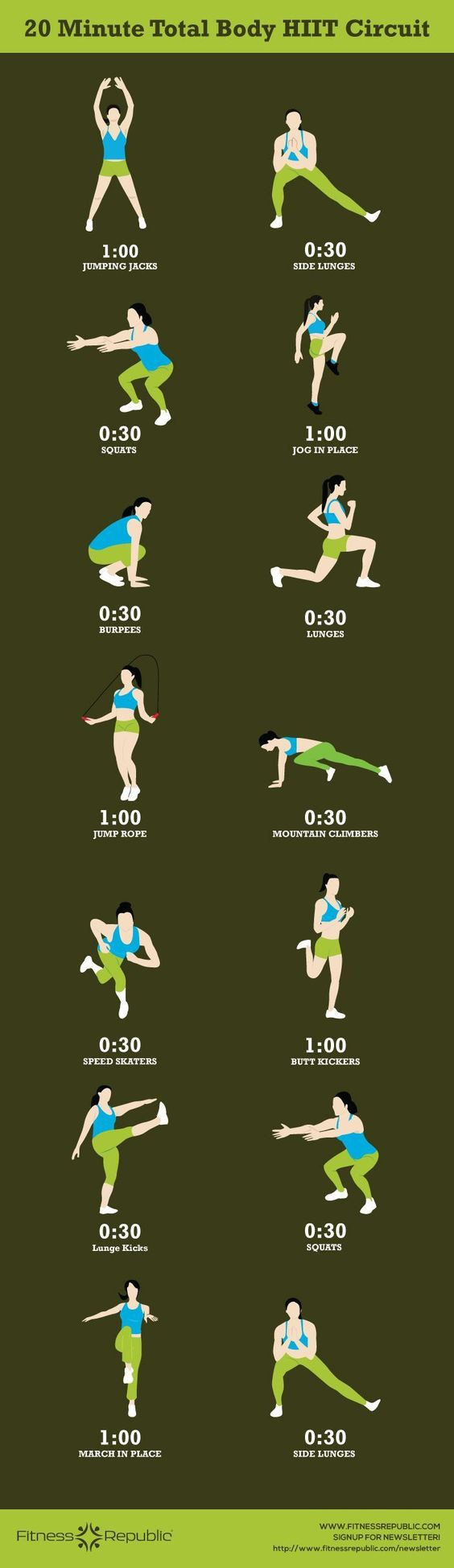 19 Intense 20 Minute Workouts That Will Destroy Your Body Fat Hour Circuit Tabata Hiit Pinterest No Excuses Workout
