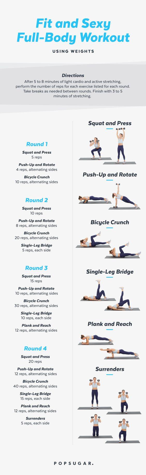 Total Body Workout | Total body workout, Full body workout
